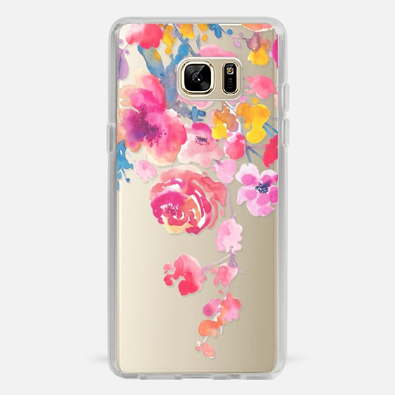 Galaxy Note 7 Hülle - Pink Confetti Watercolor Floral #2