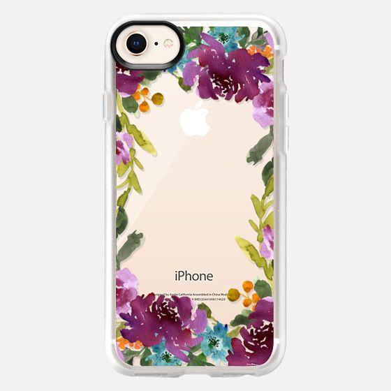 Purple Floral Border - Snap Case