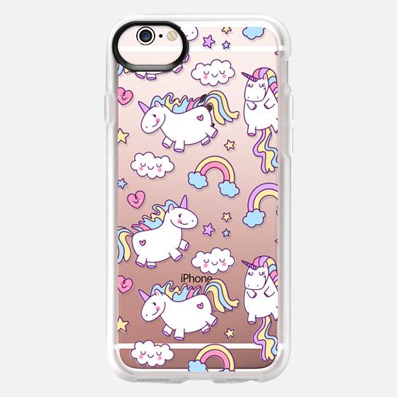 iPhone 6s Case - Unicorns & Rainbows - Clear