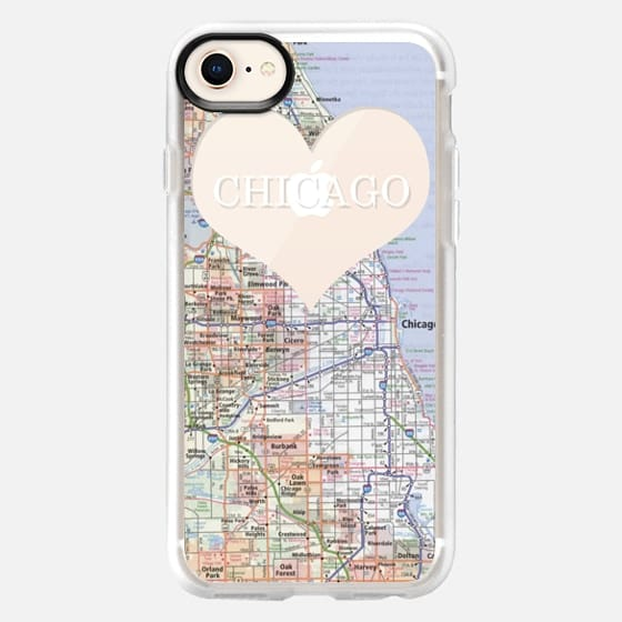Heart Map - Chicago - Snap Case