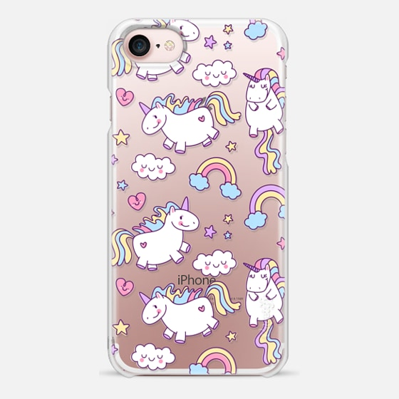 iPhone 7 Hülle - Unicorns & Rainbows - Clear