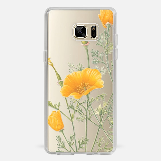 Galaxy Note 7 Case - California Poppies