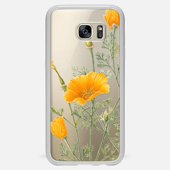 Galaxy S7 Edge Case - California Poppies