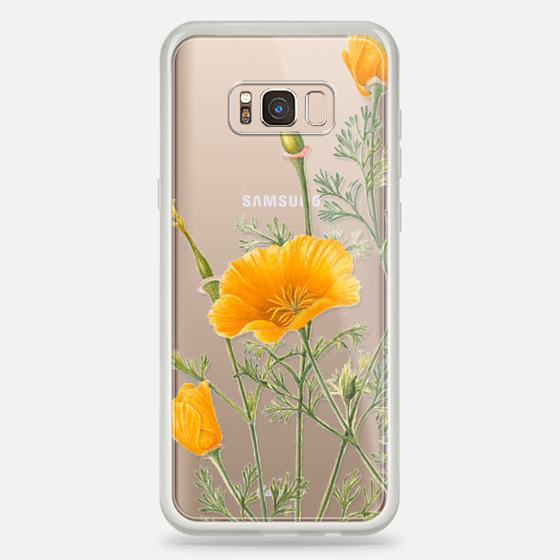 Galaxy S8+ ケース - California Poppies