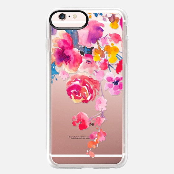 iPhone 6s Plus Capa - Pink Confetti Watercolor Floral #2