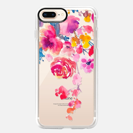 iPhone 8 Plus Coque - Pink Confetti Watercolor Floral #2