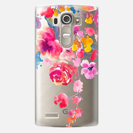 LG G4 Case - Pink Confetti Watercolor Floral #2