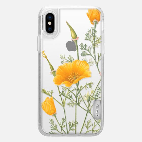iPhone X 保護殼 - California Poppies