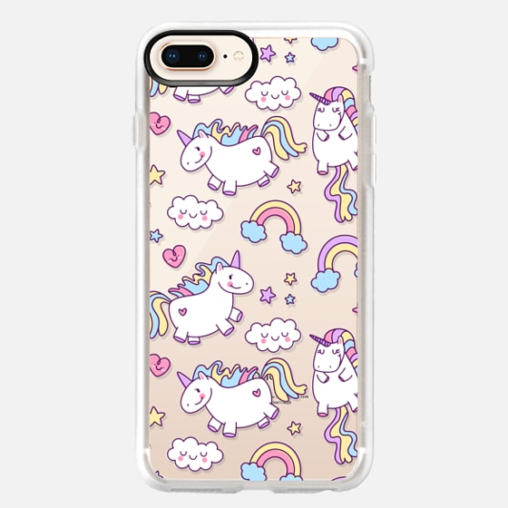 iPhone 8 Plus 保护壳 - Unicorns & Rainbows - Clear