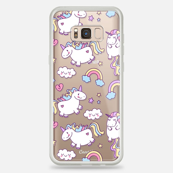 Galaxy S8+ Coque - Unicorns & Rainbows - Clear