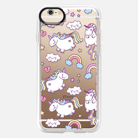 iPhone 6 Case - Unicorns & Rainbows - Clear