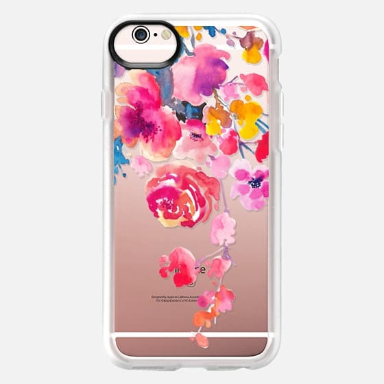 iPhone 6s Hülle - Pink Confetti Watercolor Floral #2