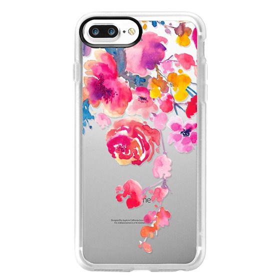 iPhone 7 Plus Case - Pink Confetti Watercolor Floral #2