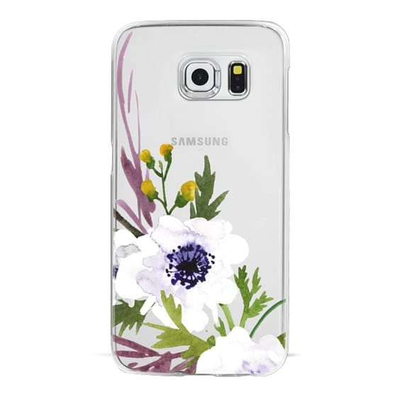 White & Purple Watercolor Florals #2