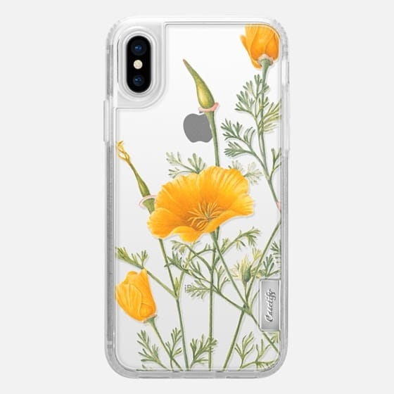 iPhone X Case - California Poppies