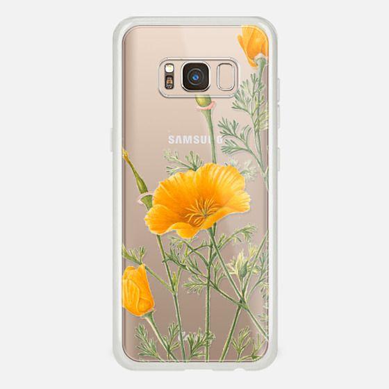 Galaxy S8 Case - California Poppies