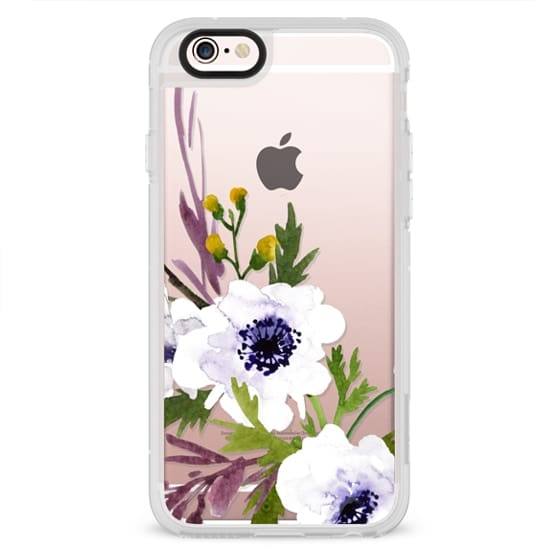 iPhone 6s Cases - White & Purple Watercolor Florals #2