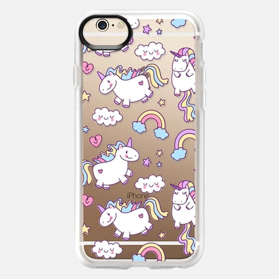 iPhone 6 Hülle - Unicorns & Rainbows - Clear