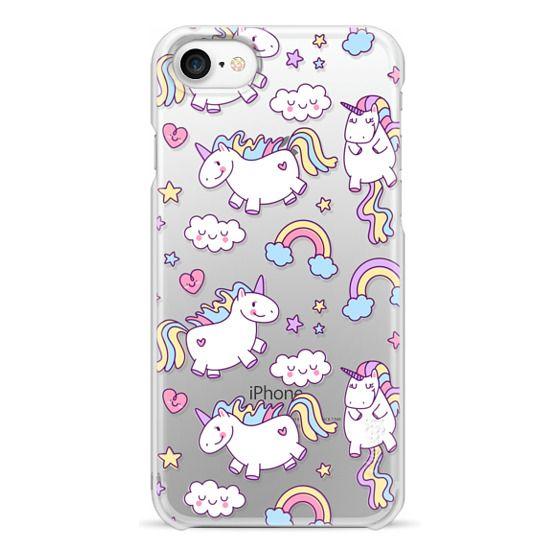 iPhone 7 Coque - Unicorns & Rainbows - Clear