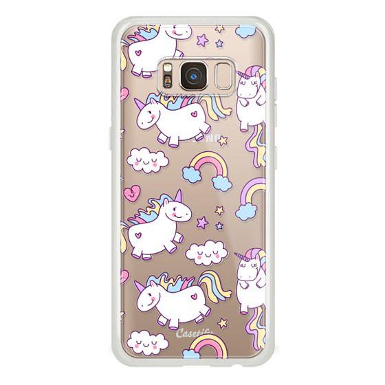 Galaxy S8 保護殼 - Unicorns & Rainbows - Clear