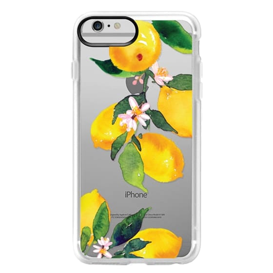 iPhone 6 Plus Cases - Watercolor Lemon Blossoms