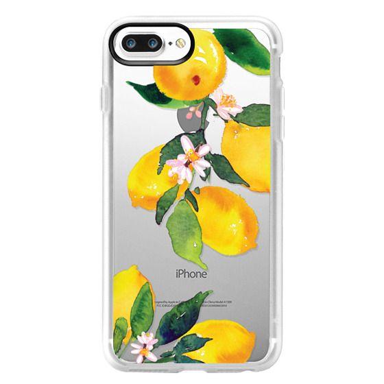 iPhone 7 Plus Cases - Watercolor Lemon Blossoms
