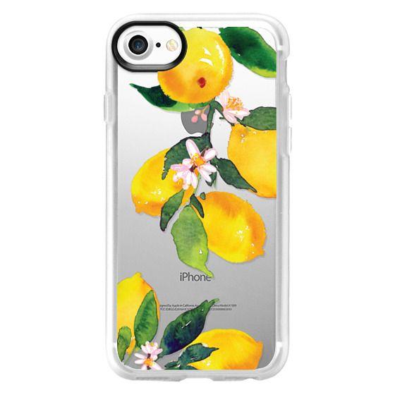 iPhone 7 Cases - Watercolor Lemon Blossoms