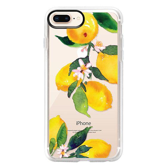 iPhone 8 Plus Cases - Watercolor Lemon Blossoms
