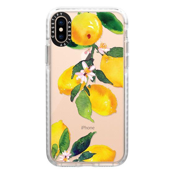 iPhone XS Cases - Watercolor Lemon Blossoms