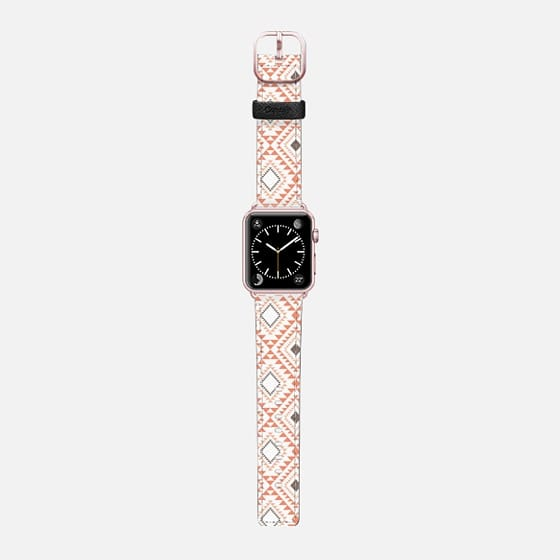 Tribal - Orange - Saffiano Leather Watch Band