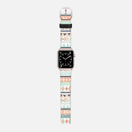Tribal - Mint - Saffiano Leather Watch Band