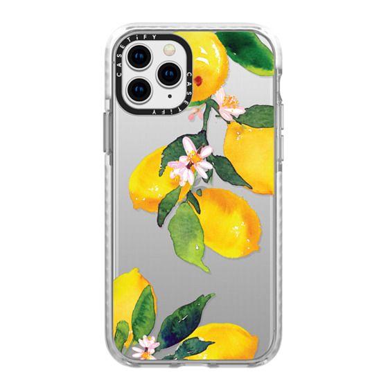 iPhone 11 Pro Cases - Watercolor Lemon Blossoms
