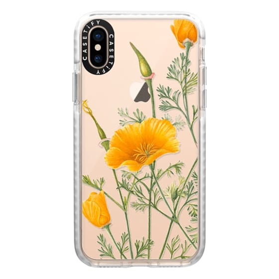 iPhone XS Cases - California Poppies