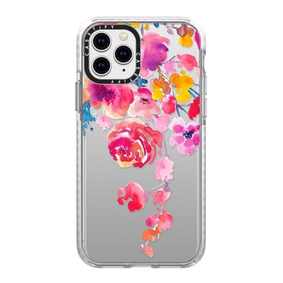 iPhone 11 Pro Cases - Pink Confetti Watercolor Floral #2