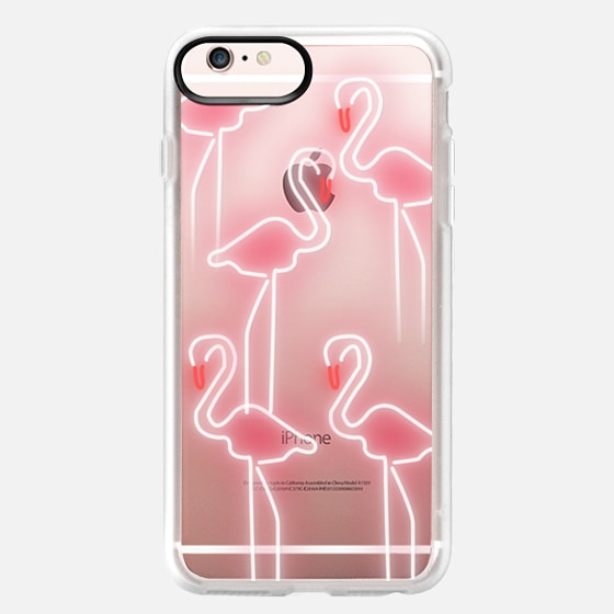 Neon inspired flamingo pattern