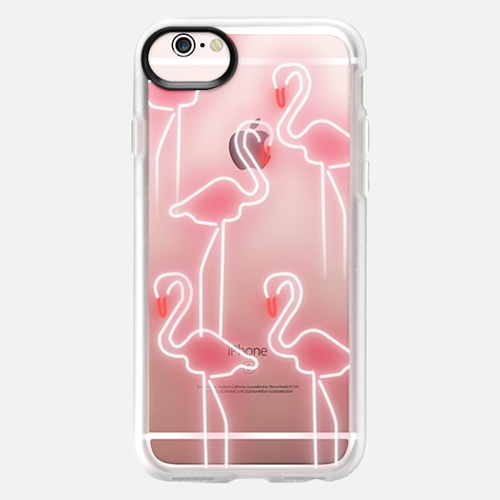 Neon inspired flamingo pattern