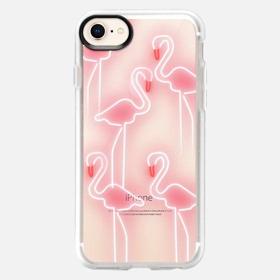 Neon inspired flamingo pattern - Snap Case