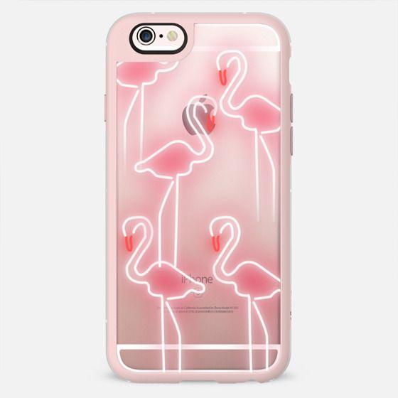 Neon inspired flamingo pattern -