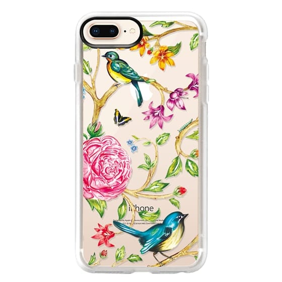 iPhone 8 Plus Cases - Pretty Birds by Miki Rose