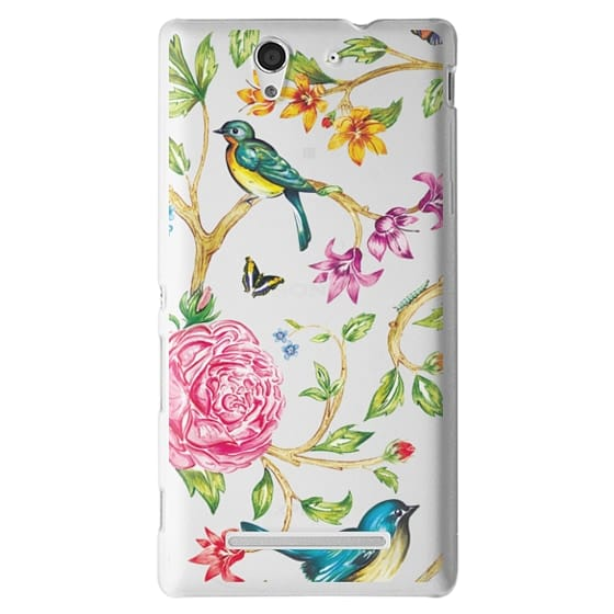 Sony C3 Cases - Pretty Birds by Miki Rose