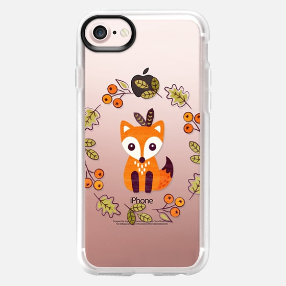 LITTLE RED FOX WITH AUTUMN BERRIES - TRANSPARENT - Wallet Case