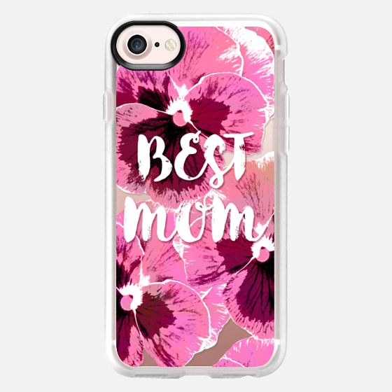 PINK PANSIES BEST MOM FLOWERS TYPOGRAPHIC MOTHER MOTHER'S DAY  - Wallet Case