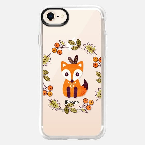 LITTLE RED FOX WITH AUTUMN BERRIES - TRANSPARENT  - Snap Case