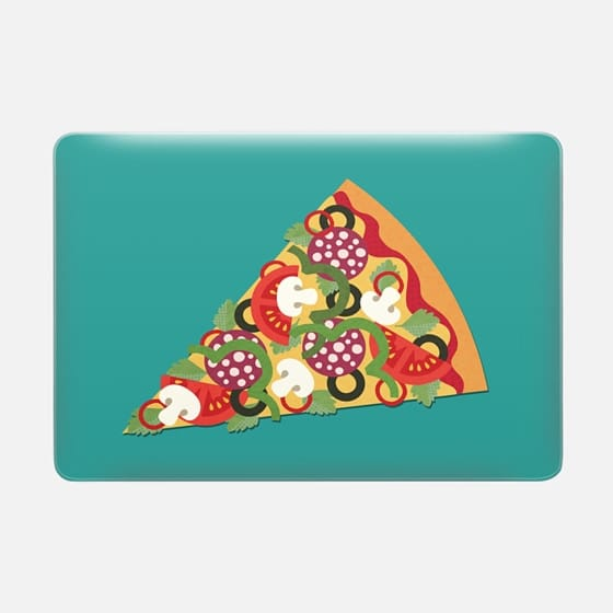 PIZZA POWER PEPPERONI ON TEAL -