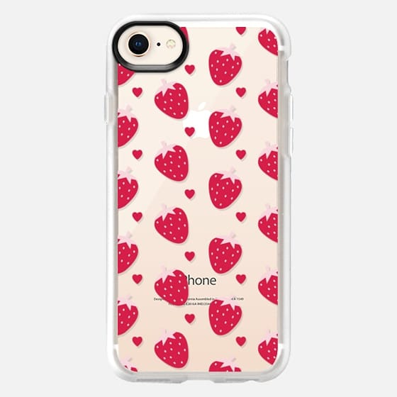 STRAWBERRIES AND CHOCOLATE - TRANSPARENT - Snap Case