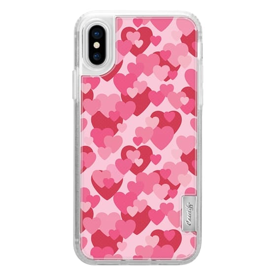 iPhone 7 Plus Cases - MINI HEARTS PINK AND RED PRETTY LOVE PATTERN VALENTINES DAY BEAUTIFUL GIRLY