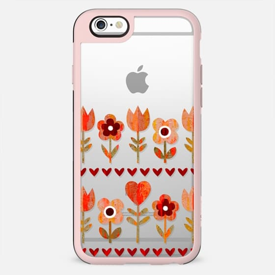 VINTAGE GARDEN TRANSPARENT LOVE FLOWERS HEARTS RETRO BOHO FESTIVAL DAISY BEATRICE - New Standard Case