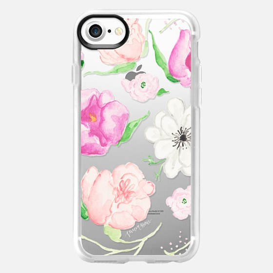 Pink Watercolor Florals by Simply Jessica Marie - Classic Grip Case