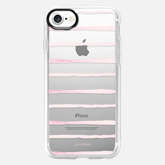 Blush Stripes by Simply Jessica Marie - Classic Grip Case