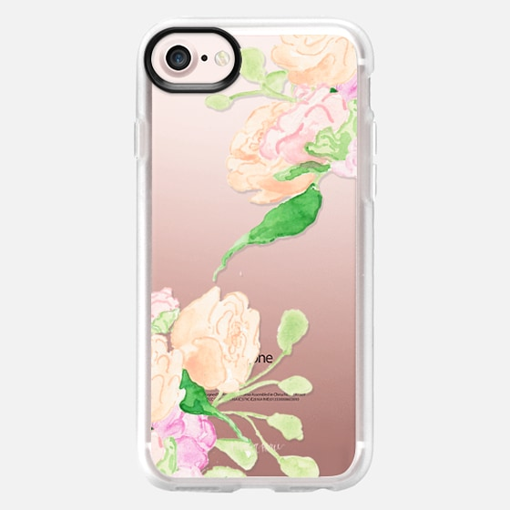 Peach and Pink Flowers by Simply Jessica Marie - Classic Grip Case